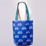 Large Metallic Bicycle Canvas Tote model