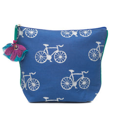 Metallic Printed Bicycle Cosmetic Cotton Bag