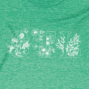 Unisex Short Sleeve Triblend Tee in Grass - STL Floral print detail