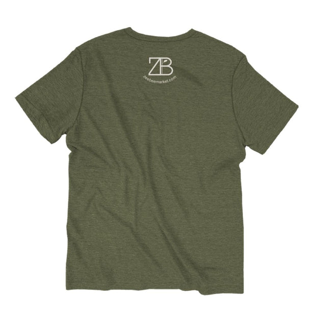 Unisex Short Sleeve Triblend Tee in Olive - LOVE back