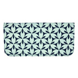 Screen Print Cotton Long Wallet - Navy Petal frontview