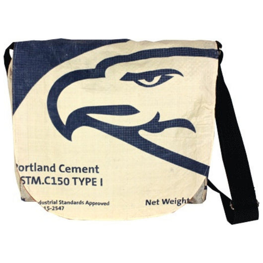 Recycled Cement Sack Messenger Bag - Eagle