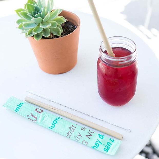Bamboo Straw Set lifestye