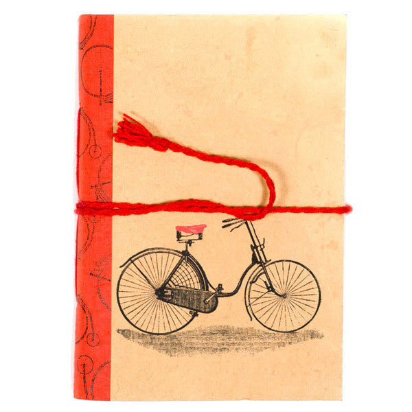 Recycled Cotton Vintage Bicycle Journal