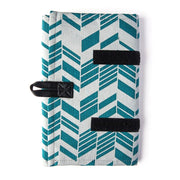 Wayfarer Jewelry Roll Travel Case - Teal partly open