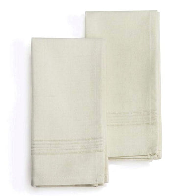 "Set of two 20"" X 20"" Hand-woven Cotton Napkin - Whipped Cream"