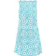 Fair Trade Batik Boardwalk Dress - Chrome Sky Blue