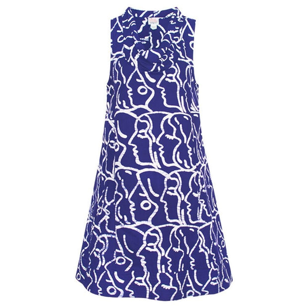 Global Mamas Batik Eli Dress - Sisters Navy