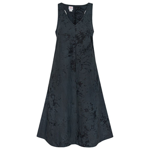 Global Mamas Fair Trade Oaklynn Dress - Marble Black
