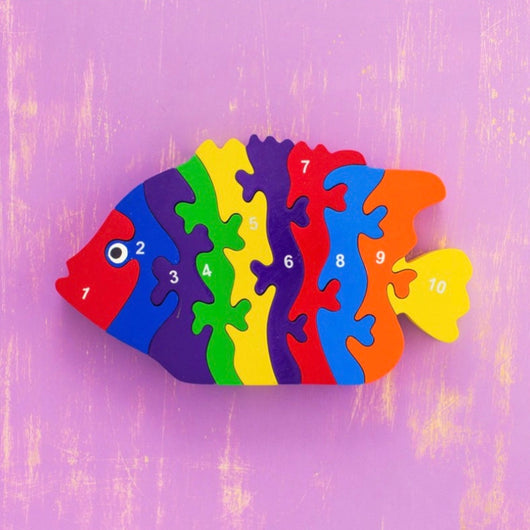 Wooden 1-10 Jigsaw Puzzle - Tropical Fish