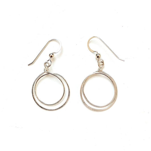 Circles of Unity Earrings with Silver Fill Earwires