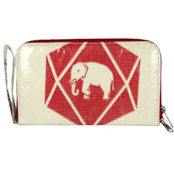 Recycled Cement Bag Travel Wallet - Diamond Elephant