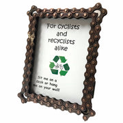 Upcycled Bike Chain Rectangular Photo Frame