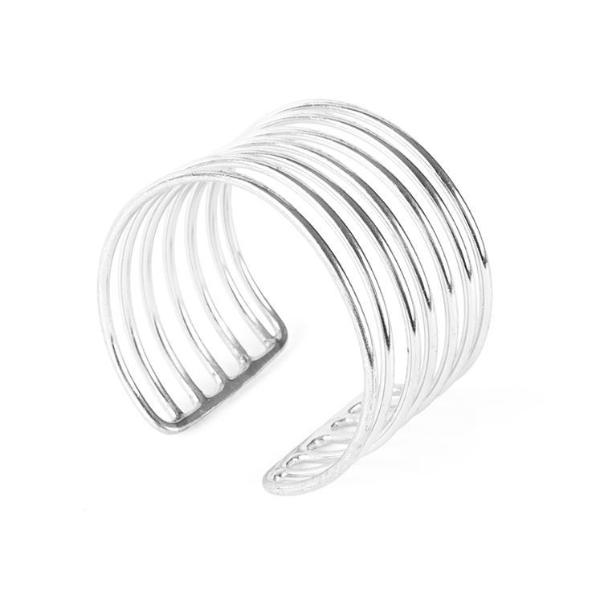 Coil Cuff Silver by Mata Traders