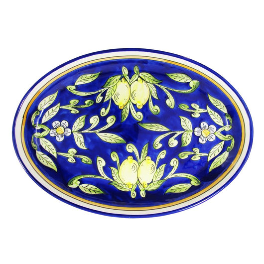 Le Souk Hand-painted Poultry Platter - Citronique