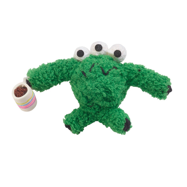 Green Coffee Monster Kamibashi String Doll Keychain