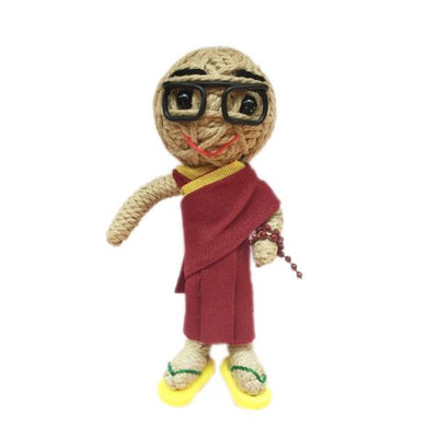 Kamibashi String Doll Keychain - His Holiness the Dalai Lama