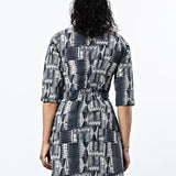 Mata Traders Annabelle Dress Black Geo model backview