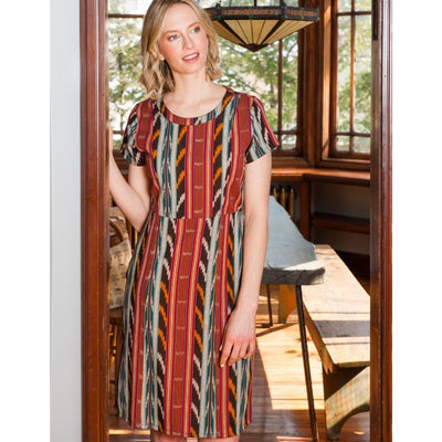 Mata Traders Bella Dress Desert Ikat