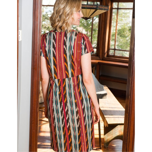 Mata Traders Bella Dress Desert Ikat back view