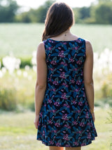 Mata Traders Bellini Dress Lilac Floral-back view