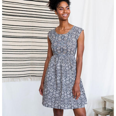 Mata Traders Chilmark Dress Black White Geo