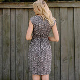Mata Traders Chilmark Dress Black White Geo - backview