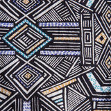 Mata Traders Chilmark Dress Black White Geo - fabric detail
