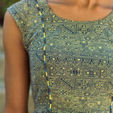 Mata Traders Chilmark Dress Navy Yellow-fabric detail