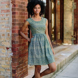 Mata Traders Chilmark Dress Navy Yellow-lifestyle