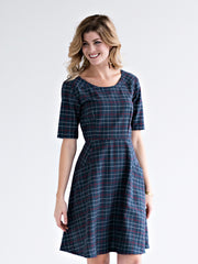 Mata Traders Country Estate Plaid Dress Midnight
