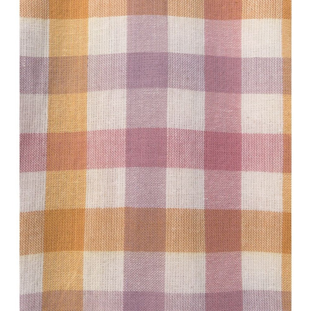 Mata Traders Devonshire Dress Blush Plaid fabric detail