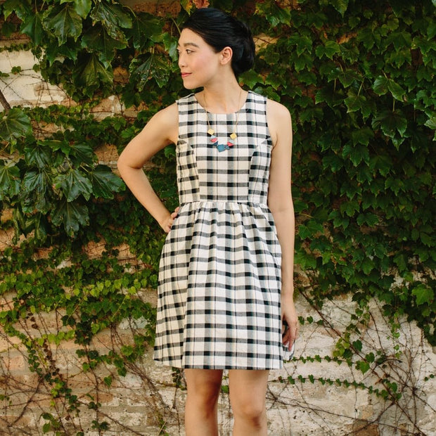 Mata Traders Dilly Dally Dress Tri-Tone Plaid