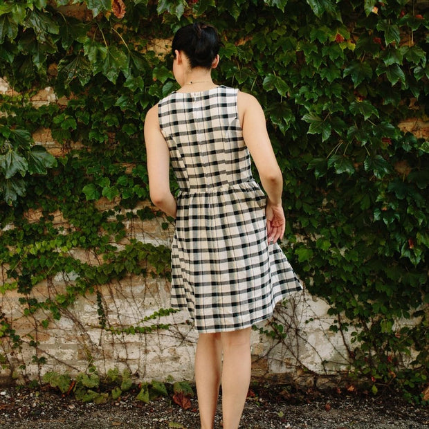 Mata Traders Dilly Dally Dress Tri-Tone Plaid back