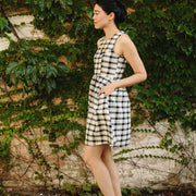 Mata Traders Dilly Dally Dress Tri-Tone Plaid side view