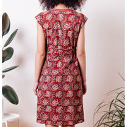 Mata Traders Jaya Dress Raspberry back view