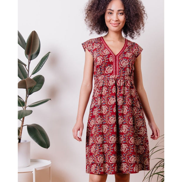 Mata Traders Jaya Dress Raspberry