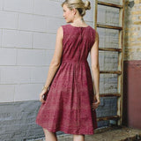 Mata Traders Lucca Dress Red Tan - backview