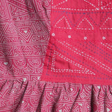 Mata Traders Lucca Dress Red Tan - fabric detail