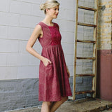 Mata Traders Lucca Dress Red Tan - lifestyle