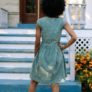 Mata Traders Nashville Dress Teal Orange lifestyle backview