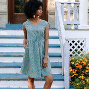 Mata Traders Nashville Dress Teal Orange lifestyle