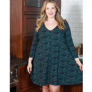Nola Plus Size Swing Dress Teal Foxes