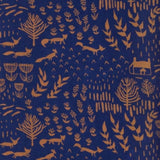 Mata Traders Novela dress orange foxes fabric detail