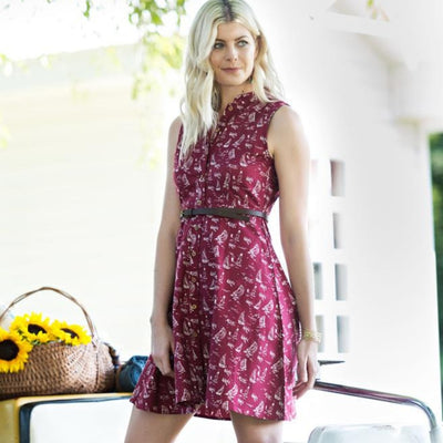 Mata Traders Penelope Dress Red Sails - lifestyle
