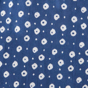 Mata Traders Ruffled Midi Dress Blue Dots-fabric detail