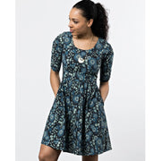 Mata Traders Serephina Dress Slate Blue Floral