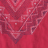 Mata Traders Summer Love Dress Red Black - fabric detail
