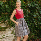 Mata Traders Summer Love Dress Red Black - lifestyle