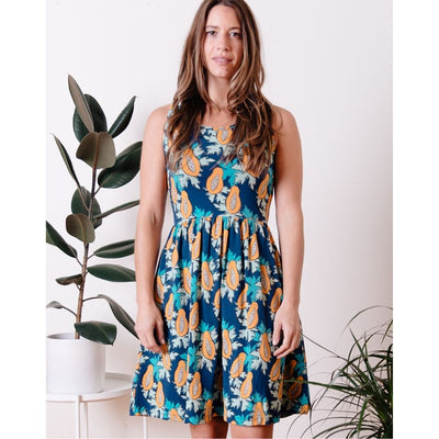 Mata Traders Summer Sonnet Dress Papaya front